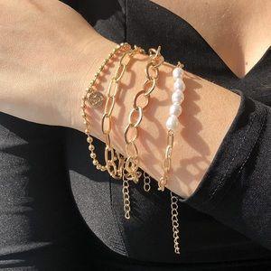 Love Layered Link Bracelets 14K Gold